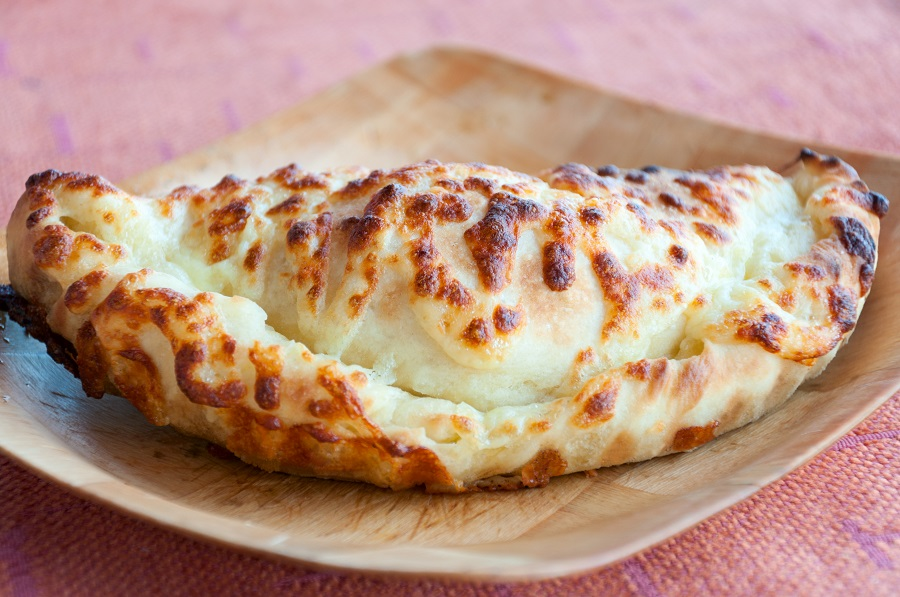Bulgarian national food tortilla with cheese.