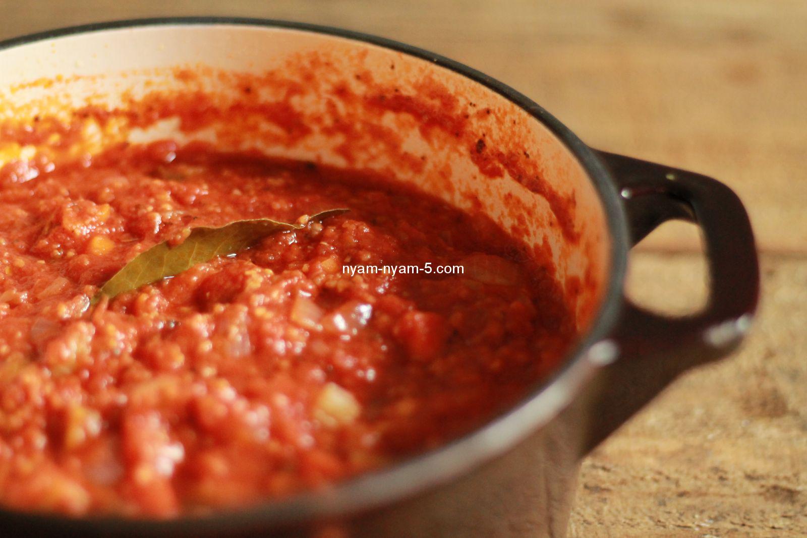 Соус болоньезе рецепт в домашних условиях с томатной пастой